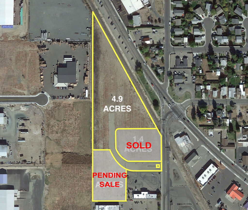 Map of lots for sale in Grandview